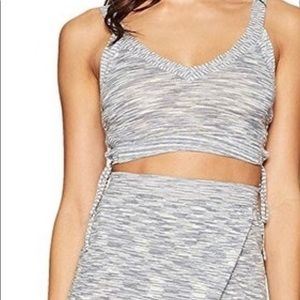 BCBG two piece set. Knit crop top with knit skirt